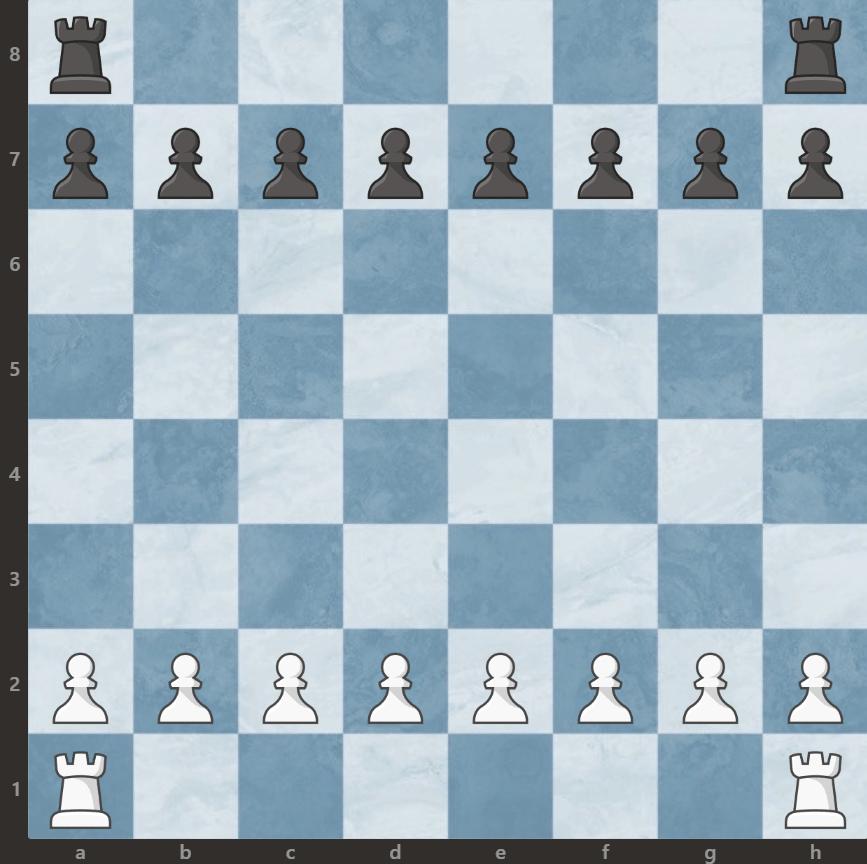 szachy ustawienie wież