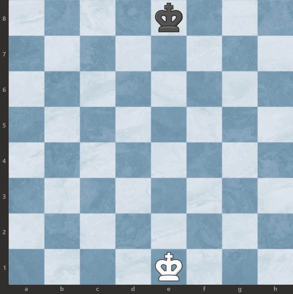 ustawienie króla na szachownicy